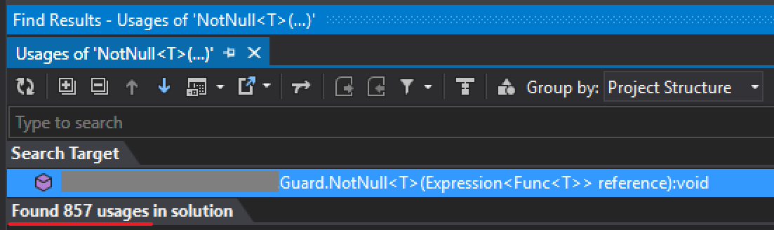 Null checking, allocations and mass refactoring with ReSharper